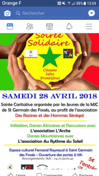 Soiree Solidaire / Citoyens Sans Frontieres